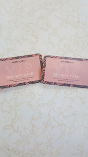 Adore beauty gift cards value $40