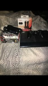 PS3 with games/PlayStation move/controller/cords
