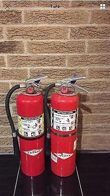 10lb Abc Fire Extinguisher Tag Bracket Scratch Dirty Set Of 2