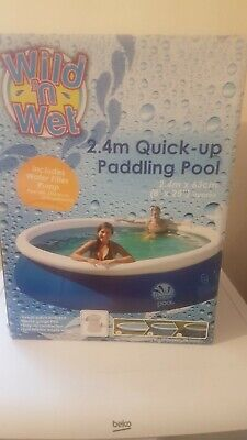 Wild 'n Wet 2.4m x 63cm Quick-up Inflatable Paddling Pool