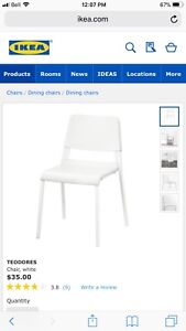 IKEA TABLE AND CHAIRS BRAND NEW
