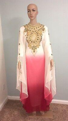 Designer Womens Kaftan Dubai Abaya Arabian Wedding Farasha Jalabiya Dress