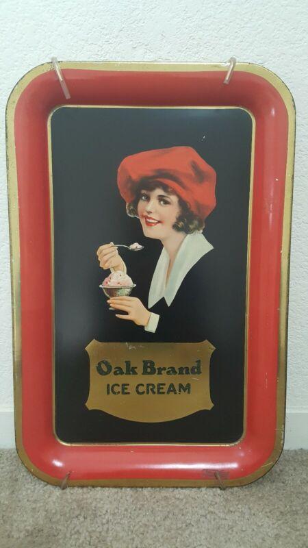 Rare Vintage Oak Brand Ice Cream Tray