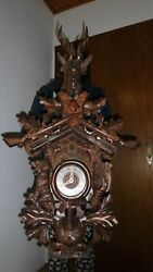 xxl original cuckoo clock black forest 8 day mechanical all in wood carwed