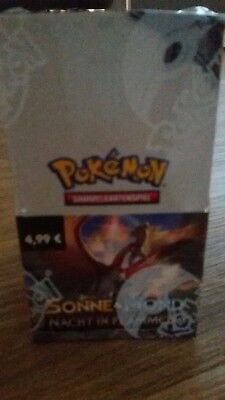 Pokemon karten Display Booster sonne und mond Nacht in flammen 1.edition