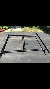 King metal bed frame $70