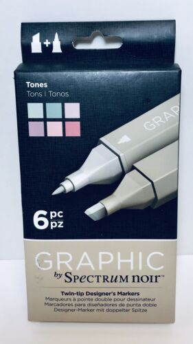 Spectrum Noir, Graphic, Twin-tip designer's markers, 6 pc 70