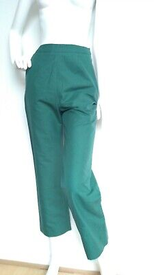 Designer ISA ARFEN high waist cropped trausers size 8 --USED ONCE-- green