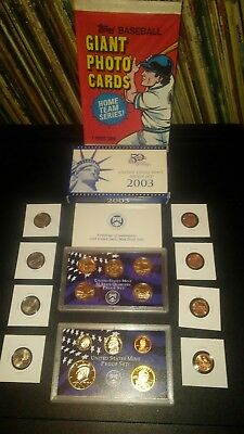 COIN LOT Sacagawea PROOF SET Westward BIG TOPPS CARD collection +no junk drawer