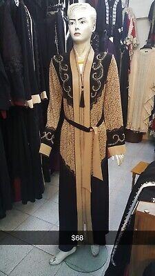 Women Kaftan Abaya Muslim Islamic Cocktail Long Sleeve Jilbab Maxi Dress Fashion
