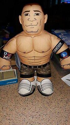 "2011 WWE John Cena Plush Talking Wrestler Doll Brawlin Buddies 16"" NEW BATTERIES"