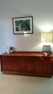 Vintage buffet or TV unit with nice retro handles.