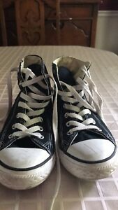 Kids size 3 Black Converse High tops