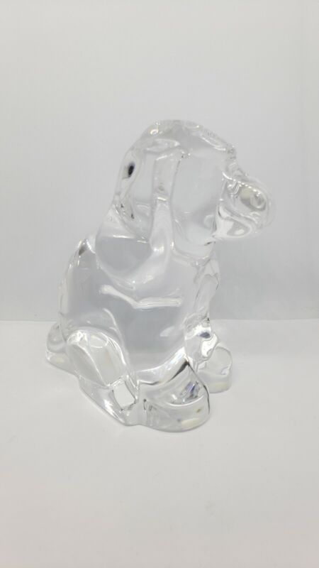 ORREFORS Crystal Glass DOG Paperweight Sweden