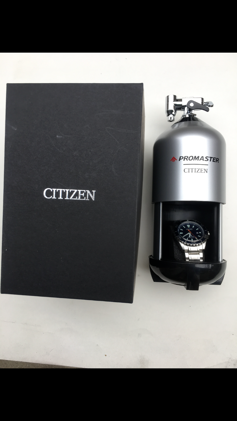 CITIZEN PROMASTER DRIVE BLUE DIAL NAN'S STAINLESS STEEL WATCH BN0191-55L