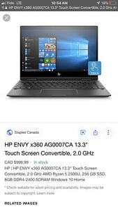 "HP ENVY x360 AG0007CA 13.3"" Touch Screen Convertible"