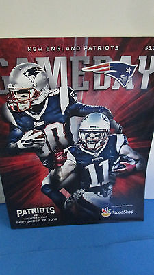 NEW ENGLAND PATRIOTS-VS. HOUSTON TEXANS-9/22/2016 PROGRAM W/ EDELMAN& AMENDOLA