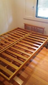 Solid timber double bed frame/sofa Chatswood Willoughby Area Preview