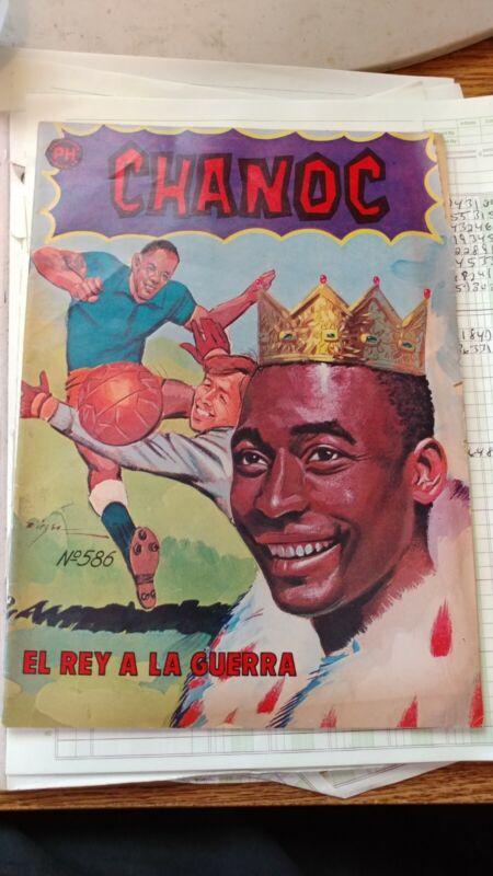 PELE 1971 comic book spanish, Chanoc #586, soccer                s5