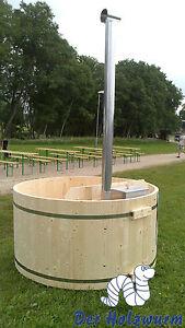 Badebottich 200 Badefass Badebecken Badezuber Holz Bausatz incl. Unterwasserofen