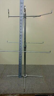 8-peg Rotatable Countertop Keychain Smallmed Item Display Rack Steel Hat Rack