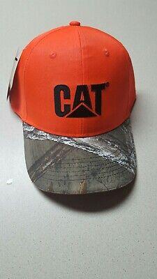 Blaze Orange Realtree Camouflage Hat Caterpillar NWT Hunting cap Orange Camouflage Cap