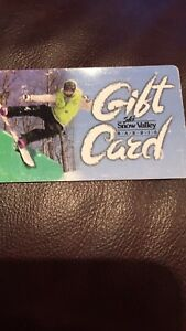 Snow valley gift card
