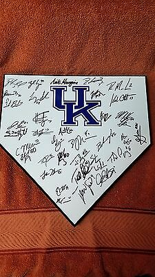 2017 KENTUCKY WILDCATS TEAM SIGNED HOME PLATE W/ COA POMPEY,WHITE,HJELLE