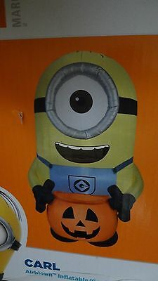 Giant Minion Halloween Gemmy Airblown Inflatable Light Up Yard Decor Prop