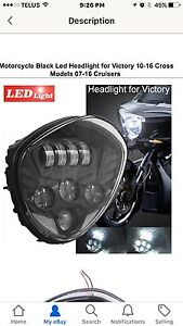 Victory LED Headlight B/N $175