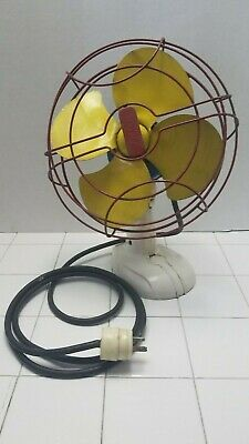 """Very Rare VINTAGE Antique Fasco Industries Fan 10"""" Arctic Aire Desk Fan Works"""