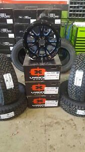Chevy/GMC 20x10 Vision Fury Alloy rim & Fuel AT Tire Package