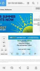 6 Australian open tickets, 24/01/2017 at 7pm(mens quarter finals) Melbourne CBD Melbourne City Preview