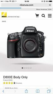Nikon D800E (Not D800) FF FX dslr body