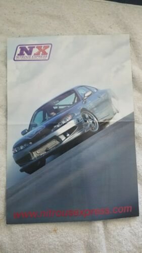USED Super Street Reversible Poster Nissan Silvia S15 240sx Subaru WRX NX NOS