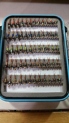 60 Copper John Fly Box - Trout Wet Flies - Fly Fishing Flies US Veteran (Wet Trout)