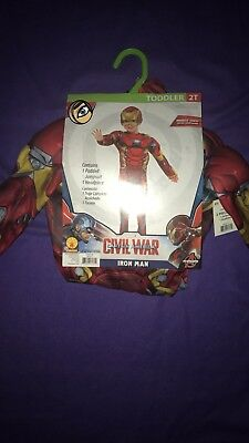 Rubie's Halloween Costume Marvel's Ion Man Toddler Size 2t NWT - Girl Iron Man Halloween Costume