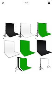 New photography backdrop Muslin Black, green, Blue, white 3mX3m Beverly Hills Hurstville Area Preview