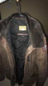 Men's leather parajumper
