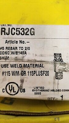 Rjc532g Cadwell Erico Rebar To Cable Mold