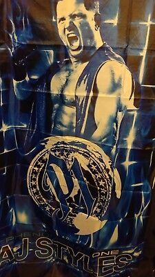 AJ STYLES Pro Wrestling 3x5 BANNER Wall Hanging WWE TNA Wrestler NEW SEALED - Wwe Banner