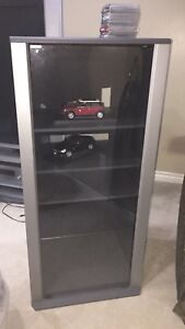 Two cabinets with glass door
