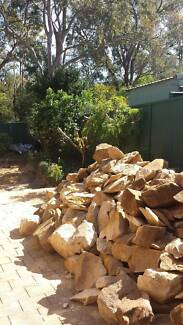 Small, Medium and Large Sandstone Garden Rocks Winston Hills Parramatta Area Preview