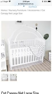Babyhood cot netting cover  sc 1 st  Gumtree & Babyhood Baby Cot Canopy | Cots u0026 Bedding | Gumtree Australia ...