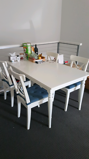 SOLD IKEA INGATORP Dining Table + 4 INGOLF Dining Chairs