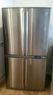 large electrolux stainless 4 door fridge freezer