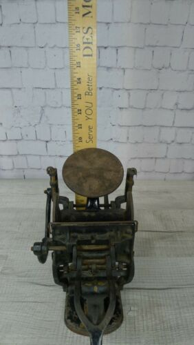 Antique Kelsey Letterpress Printing Press Table Top With Books Very Old & Cool
