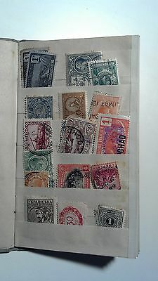 50+ World stamps- 1860s to 1930s & Vintage Pocket Stamp Book