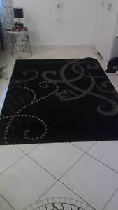 Large modern black carpet with design Leanyer Darwin City Preview