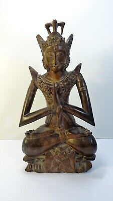 Sculpture of Dewi (Déesse Balinese) Wooden Precious - Bali - Indonesia